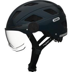 ABUS Hyban+ Casque, midnight blue, clear visor